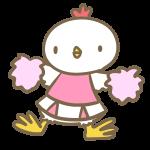 鶏のチアリーダー(ピンク)
