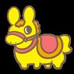 馬の乗り物(黄色)