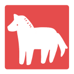 馬のはんこ(四角)