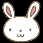 ウサギの顔(白)