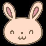 ウサギの顔(茶)