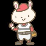 ウサギの野球(グローブ)