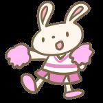 ウサギのチアリーダー(ピンク)