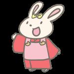 着物のウサギ