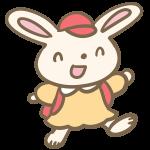 ウサギの小学生(女の子)