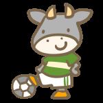 牛のサッカー(緑)