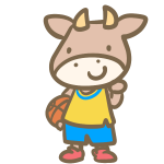 牛のバスケット(黄)