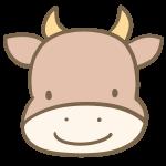 牛の顔(茶色)