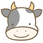 牛の顔(白黒)