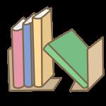 乱雑な本棚