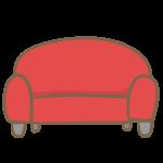 ラブソファー(赤)