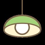 ペンダントライト(緑)