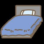 ベッド(青)