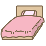 ベッド(ピンク)