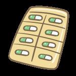 カプセル錠剤シート(グリーン)