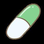 カプセル錠剤(グリーン)