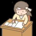 受験勉強をする女の子