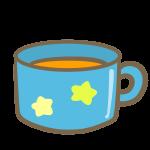 マグカップにオレンジジュース