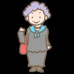 紫の髪のおばあちゃん