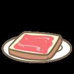 ジャムトースト
