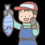 魚を売る人