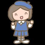 制服の園児(女の子)