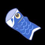 青い鯉のぼり