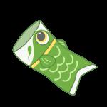 緑の鯉のぼり