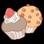 いちごとチョコのカップケーキ