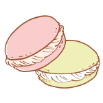 いちごとピスタチオのマカロン