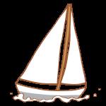 真っ白なヨット