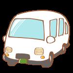 白いワゴン車