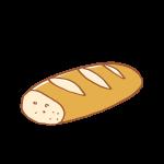 半分のフランスパン