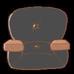 一人がけの黒いソファ