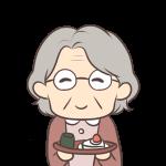 お茶菓子をくれるおばあちゃん