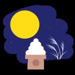 月とススキとお団子