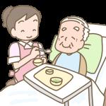 おじいさんの食事介助
