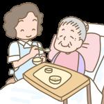 おばあさんの食事介助