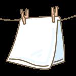 干されたタオル