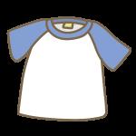 半袖Tシャツ(青×白)