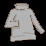 タートルネックの黒シャツ