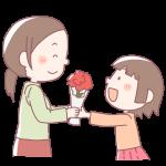 お母さんにプレゼントする女の子