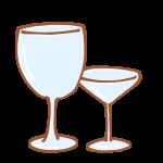 お酒を飲むグラス