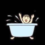 お風呂ではしゃぐ男の子