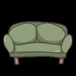 緑のソファー