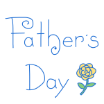 「 Father's Day 」文字
