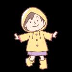 レインコートを着た女の子