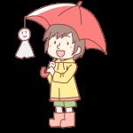 赤い傘をさした女の子