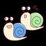 2匹のかたつむり