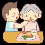 食事介助をする男性介護士